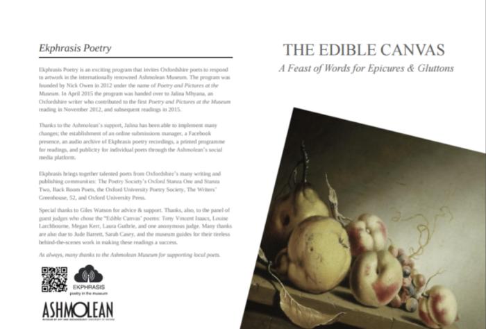 Ashmolean Museum - The Edible Canvas Reading